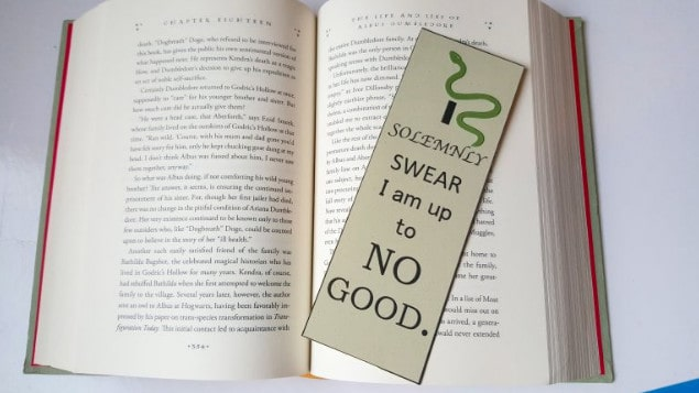 Harry Potter inspired bookmark Slytherin