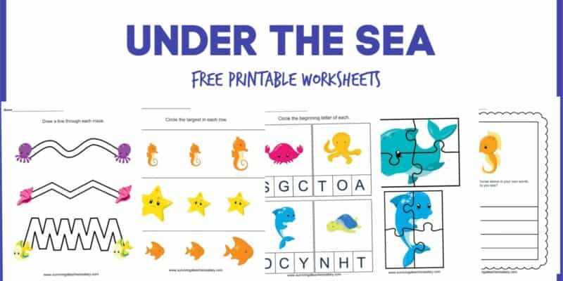 under the sea printable worksheets