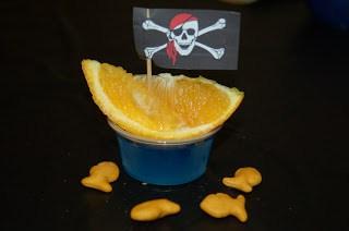pirate birthday party jello treat