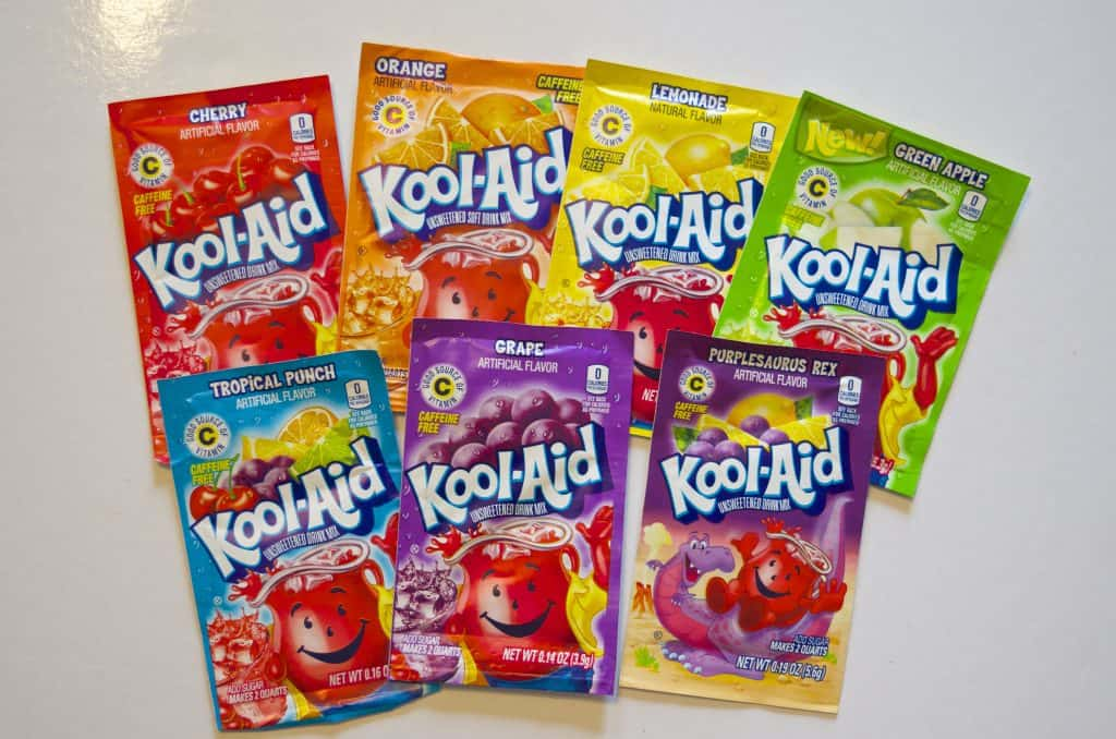 7 packets of kool-aid