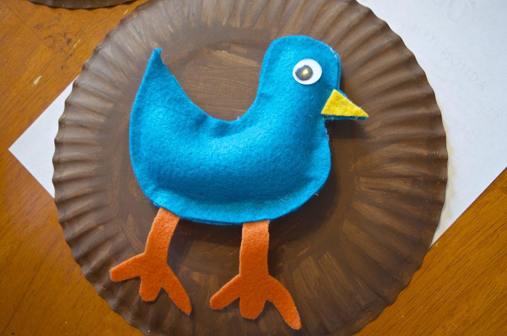DIY No Sew Felt Pigeon Bird Pretend Play Toy Tutorial