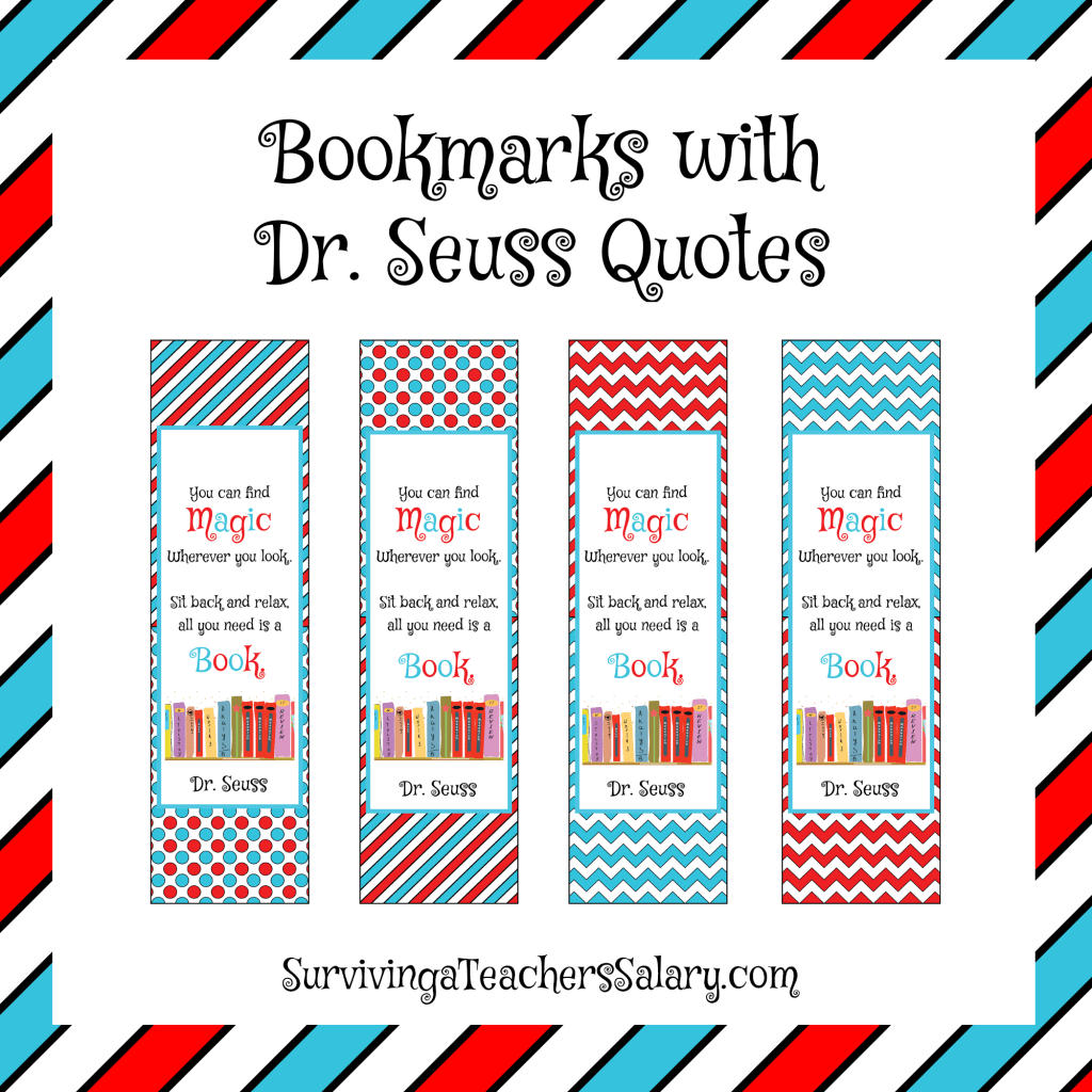 photograph about Dr Seuss Printable Quotes titled Dr. Seuss Printable Looking at Log, Bookmarks, and Award