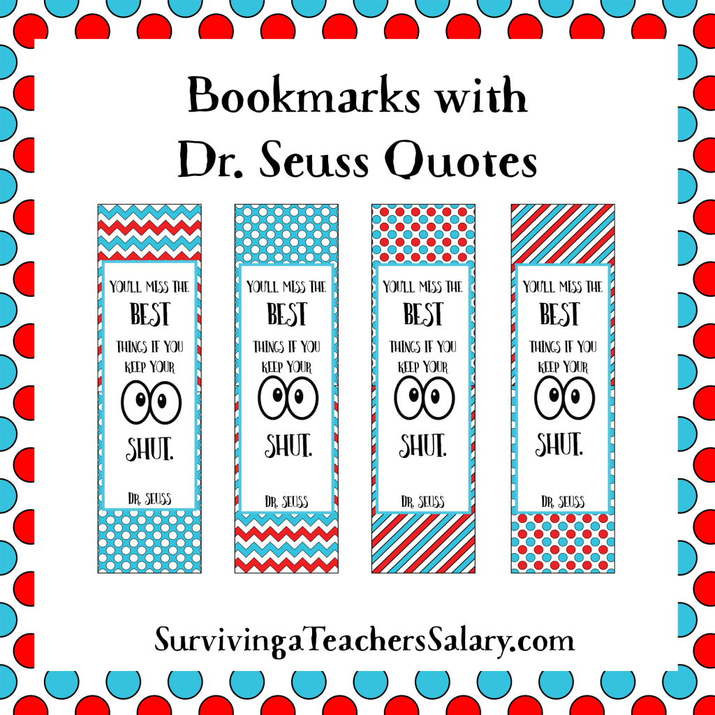 Dr. Seuss Printable READING Log, Bookmarks, and Award Certificates