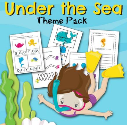 Under the Sea Preschool Printable Worksheets