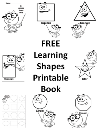 Practicing Shapes Printable Preschool Book