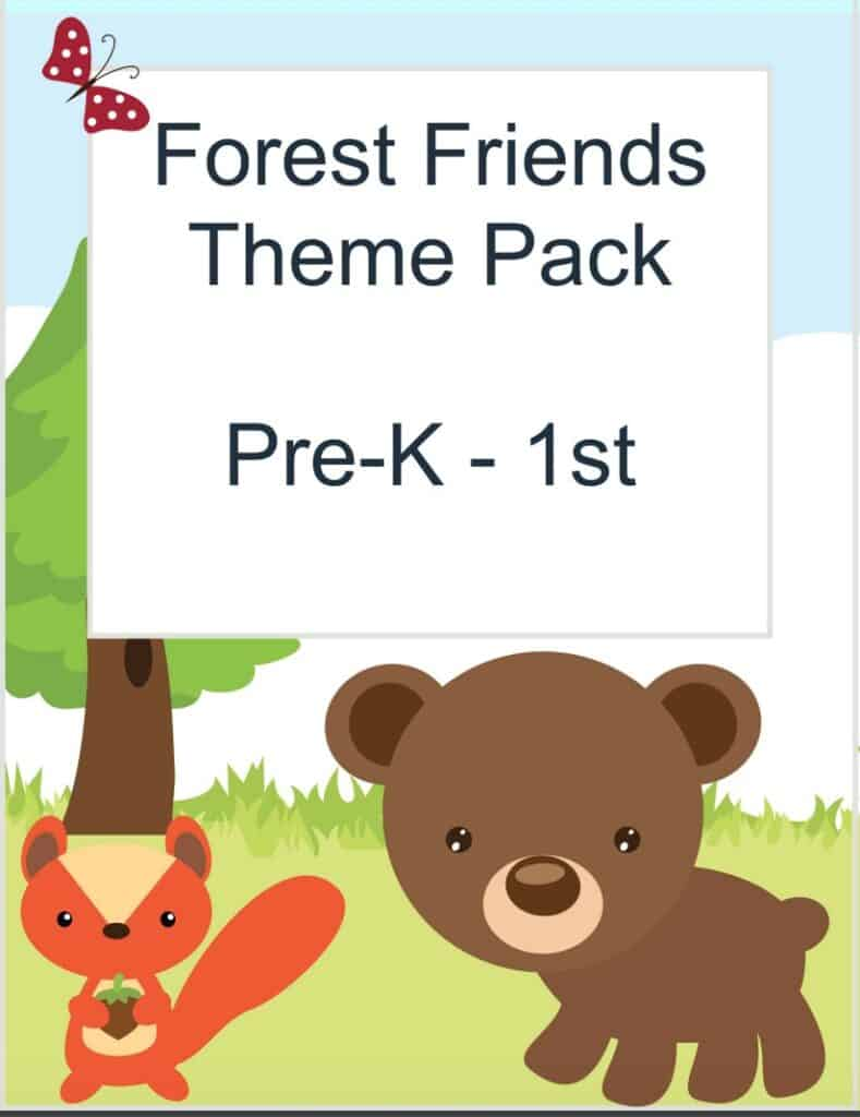 woodland forest preschool printable