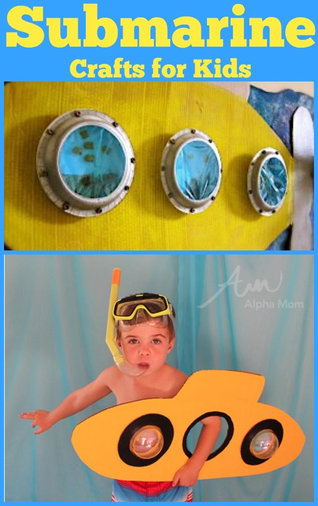 Submarine Crafts & Book Ideas for Kids Roundup