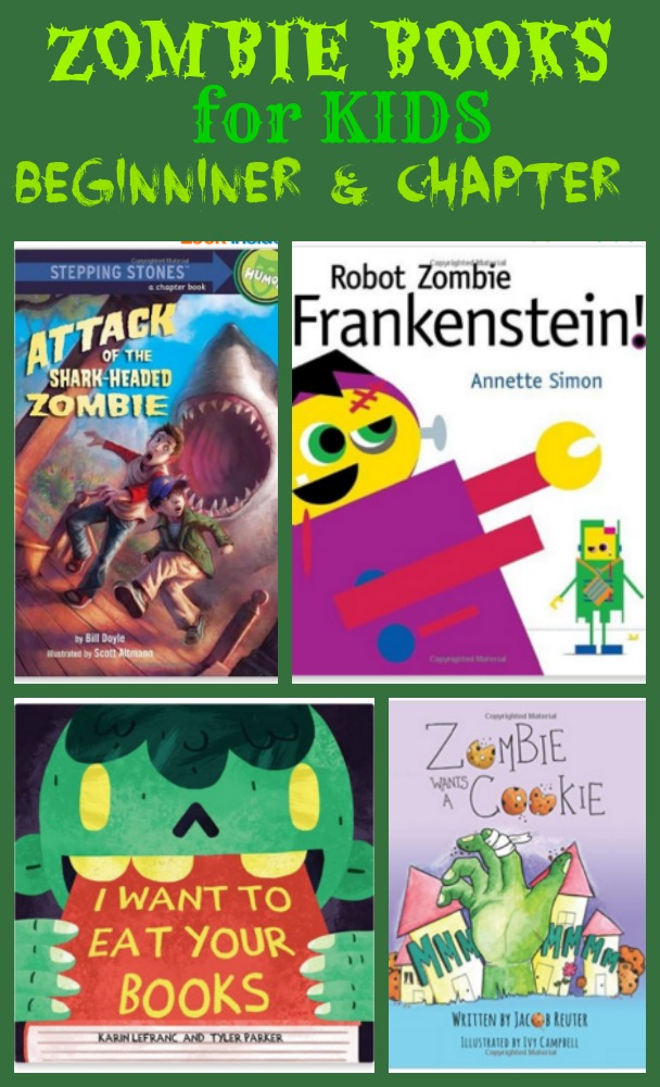 Zombie Books for Kids - Beginner and chapter books