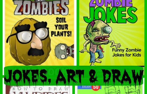 Zombie Books for Kids Jokes, Art, Draw