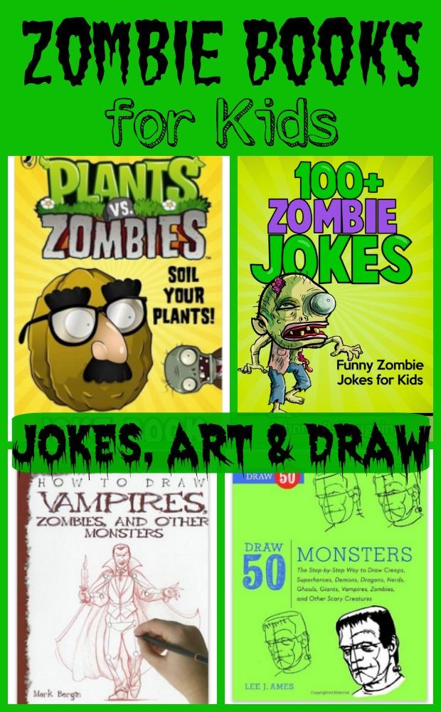 Zombie Books for Kids Jokes, Art, Draw
