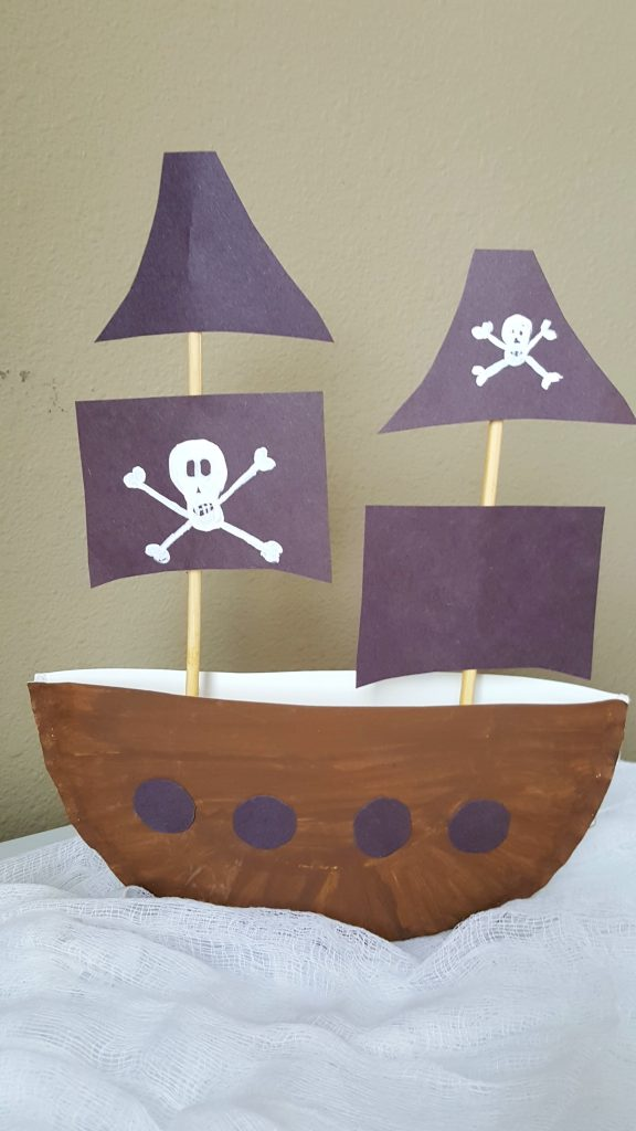 3d pirate ship paper plate craft