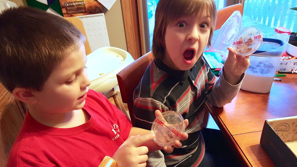 kids doing Steve Spangler Science Club Kit Review