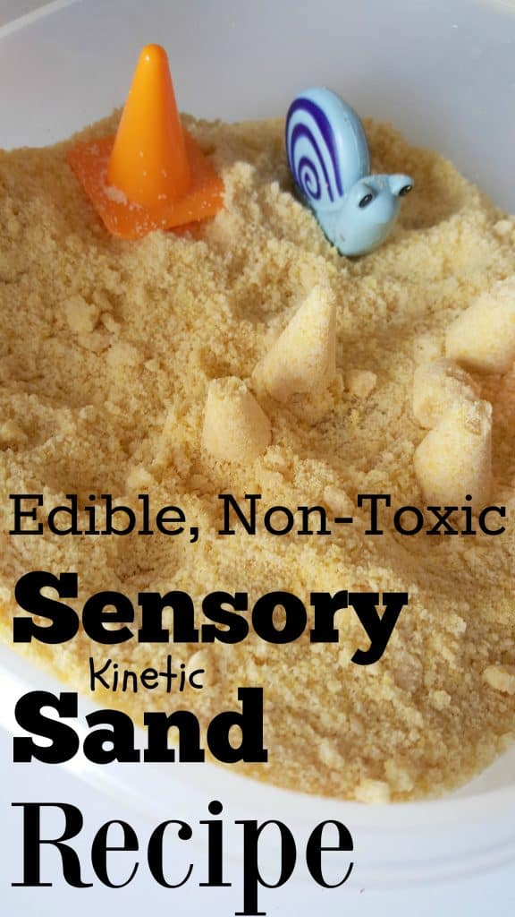 edible non toxic sensory kinetic sand recipe for kids. Black Bedroom Furniture Sets. Home Design Ideas