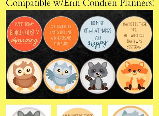 Free Printable Stickers for Erin Condren Planners for Teachers
