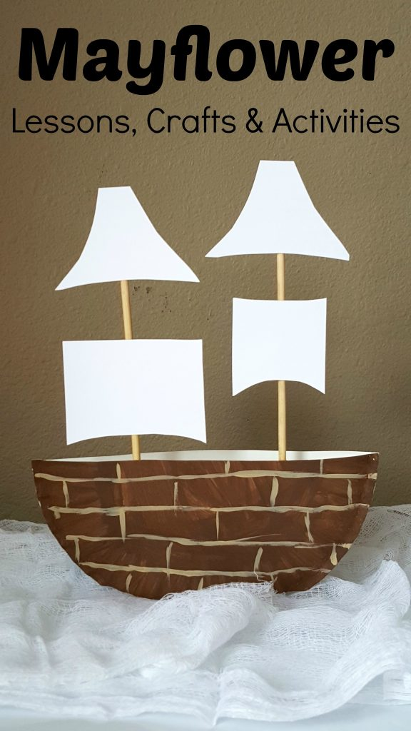 Mayflower Paper Plate Craft, Lessons and Activities