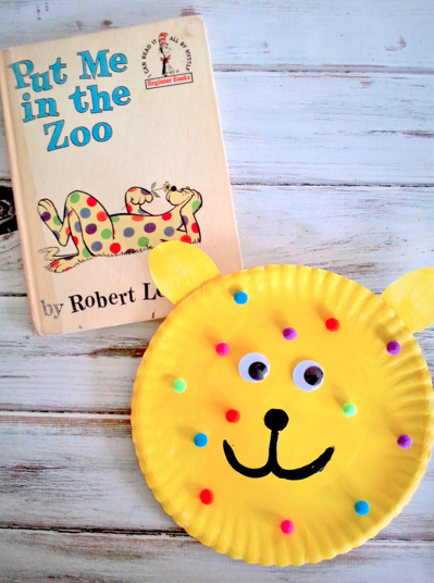 Put Me in the Zoo Children's Book Paper Plate Craft for Preschool