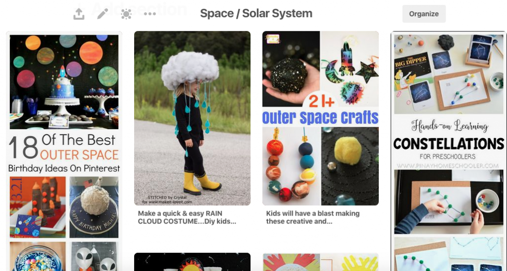 Space Solar System Pinterest board