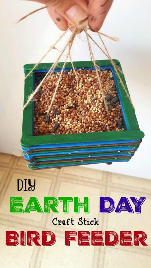 DIY Earth Day Bird Feeder Craft Stick