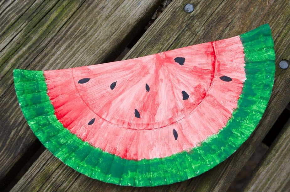 Watermelon Paper Plate Craft & 20+ Recipes & DIY Activities