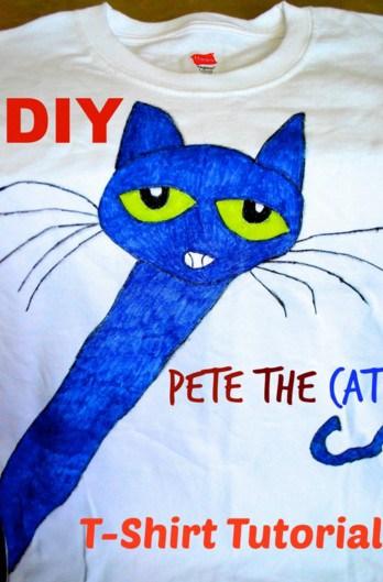 DIY Pete the Cat Tshirt Tutorial