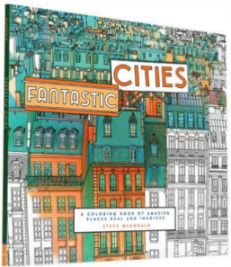 Adult Coloring Book Travel Cities