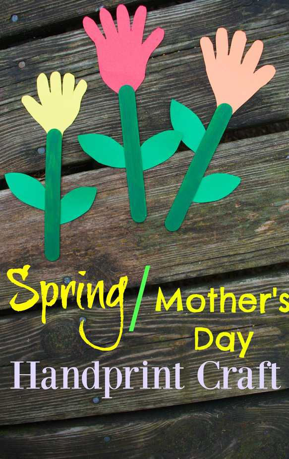 Spring flowers mothers day handprint craft for kids mightylinksfo