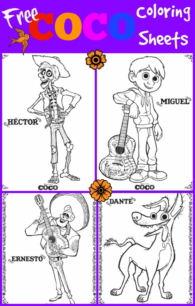 Disney Pixar's Coco Coloring Pages | Disneyclips.com | 1000x638