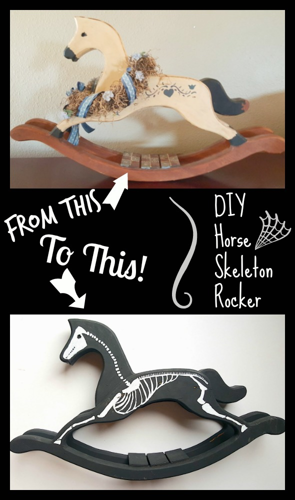 DIY Horse Skeleton Rocker Halloween Home Decoration