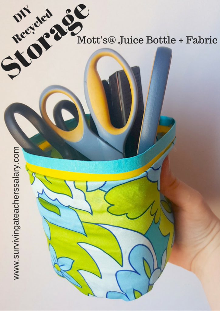 DIY Recycled Mott's® Juice Bottle Storage Container