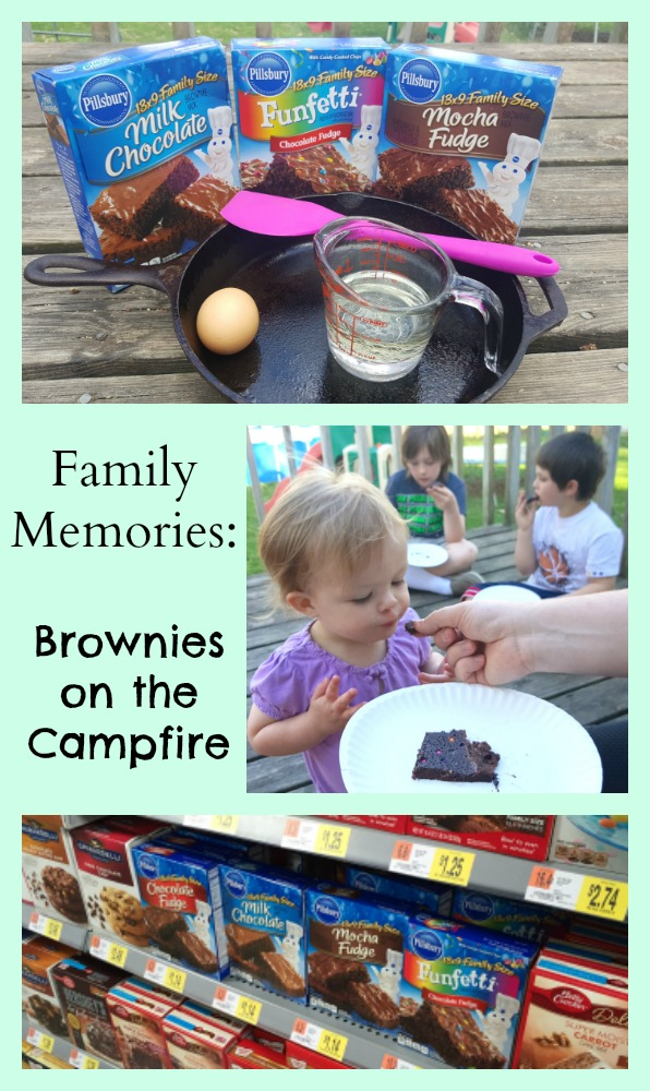 Cast Iron Skillet campfire Brownies Camping Recipe