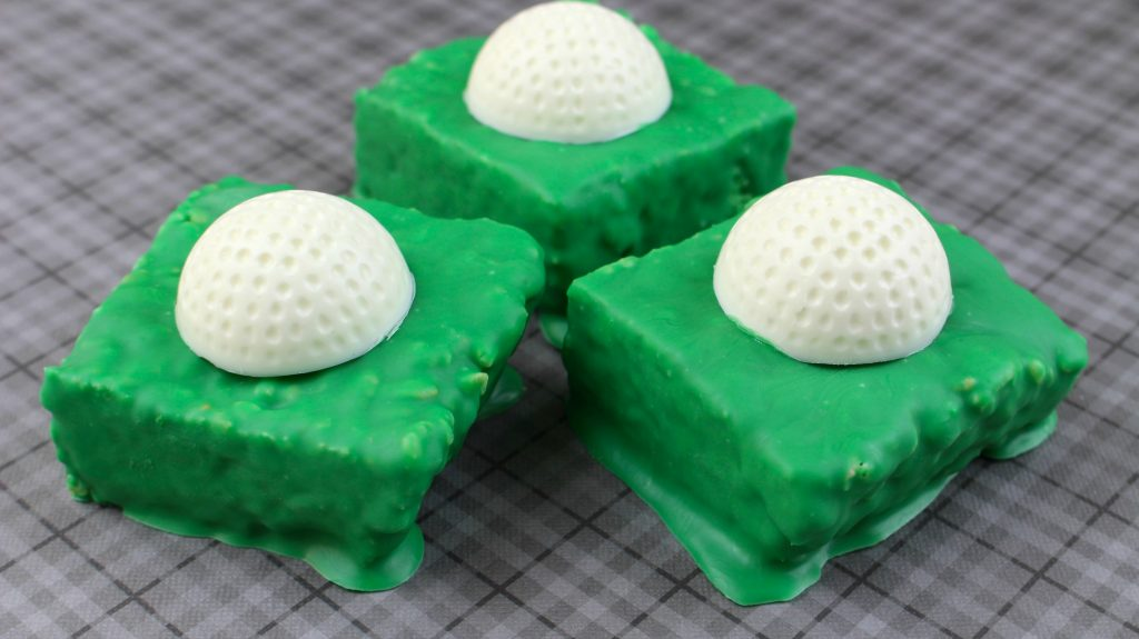 hole in one golf ball rice krispies treat