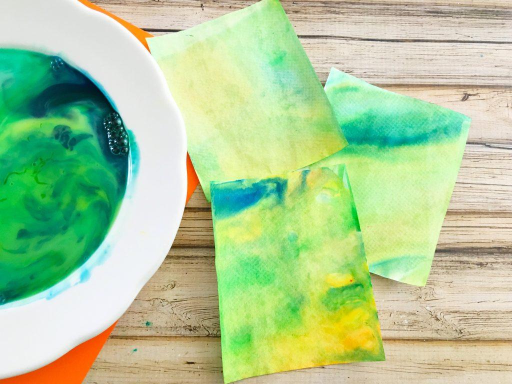color art Marbled Milk Explosion Artwork