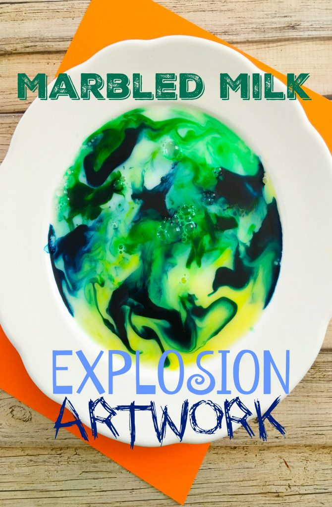 bowl of Marbled Milk Explosion Artwork Experiment