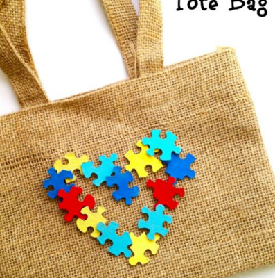 Autism Awareness DIY Tote Bag