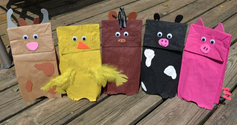Preschool Farm Brown Paper Bag Puppets