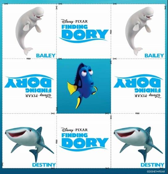 Disney Pixar Finding Dory Memory Match Game Printable