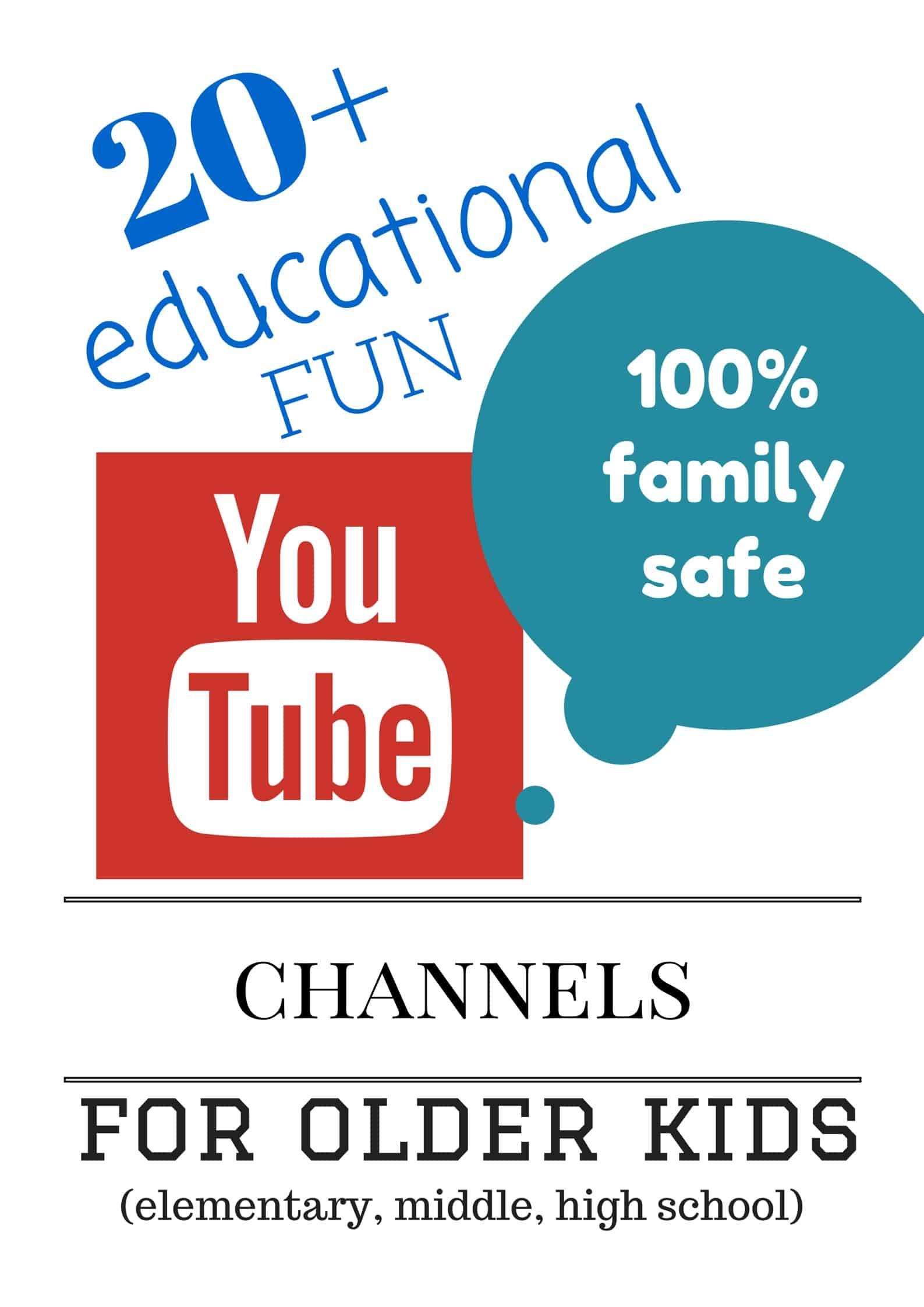 20 Safe Youtube Learning Channels For Older Kids