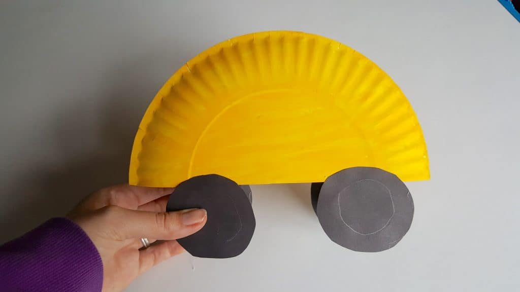 Back to School Bus Paper Plate Craft for Kids