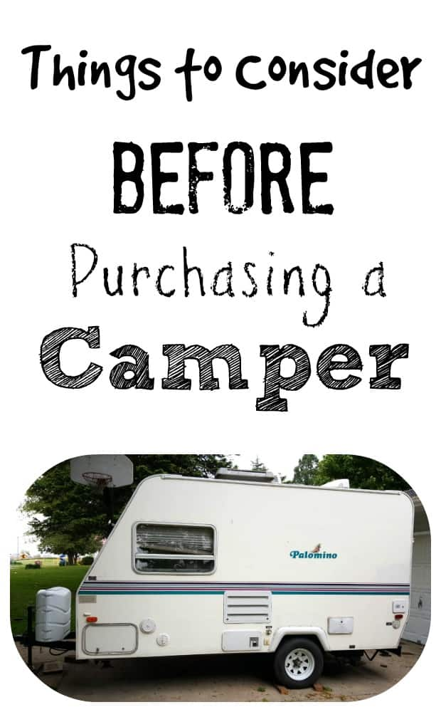 Things to Consider Before Purchasing a Camper