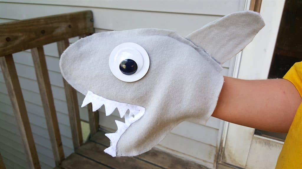 No Sew Shark Week Hand Puppet