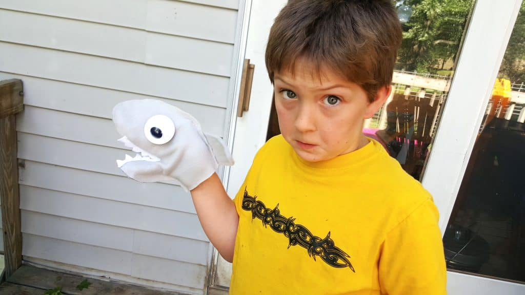 No Sew Shark Week Hand Puppet