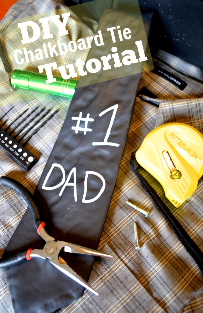 DIY Father's Day Chalkboard Tie Gift Tutorial