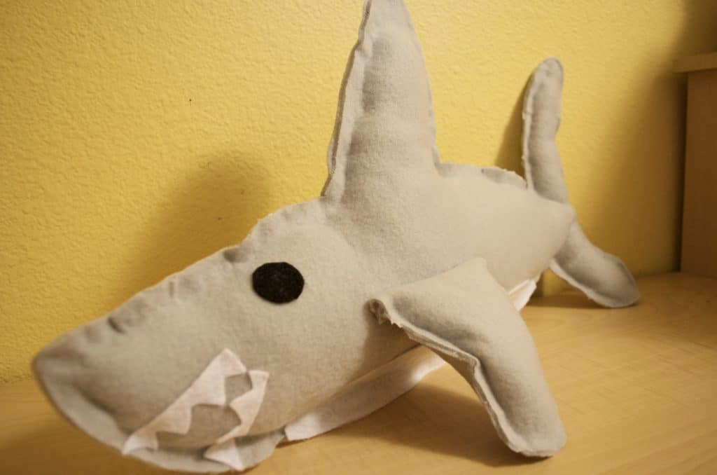DIY No Sew Shark Plush Toy Tutorial with Printable Template