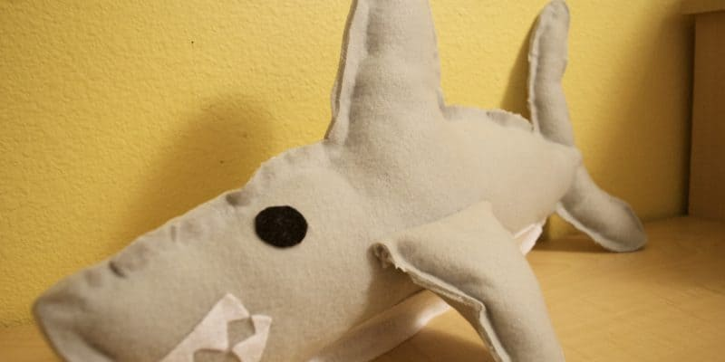 No Sew Shark Week Plush Toy Tutorial with Printable Template