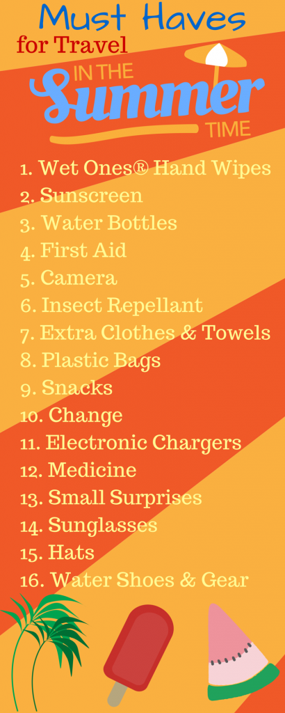 Must Haves for Travel in the Summer
