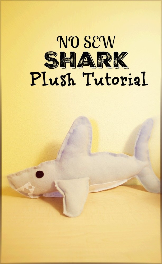 shark plush toy template