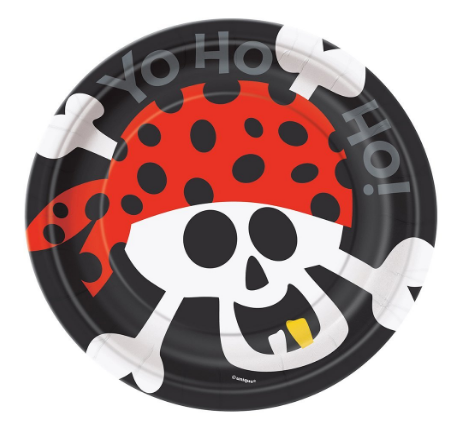 Pirate Party Plates