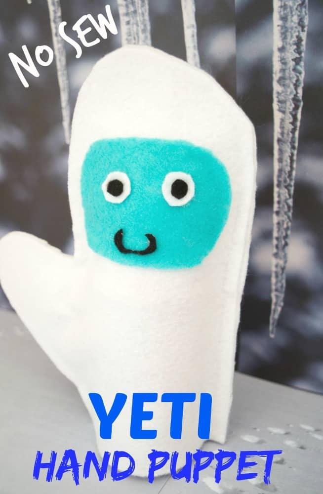 no sew yeti hand puppet tutorial