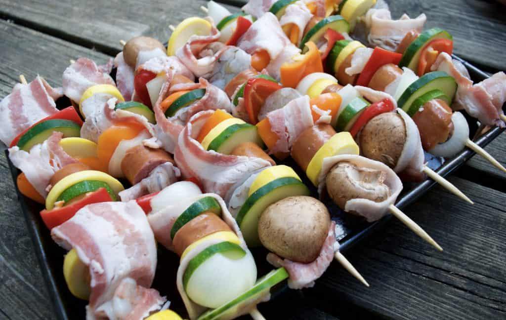 Hearty Sausage & Shrimp Kabobs Recipe