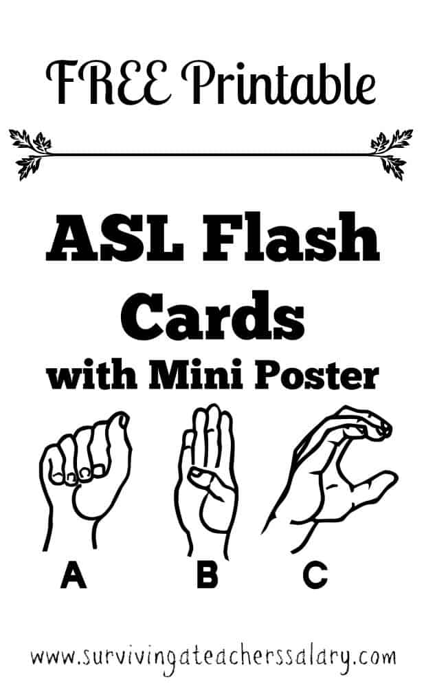 photograph regarding Baby Sign Language Flash Cards Printable referred to as Cost-free Printable ASL Alphabet Signal Language Flash Playing cards